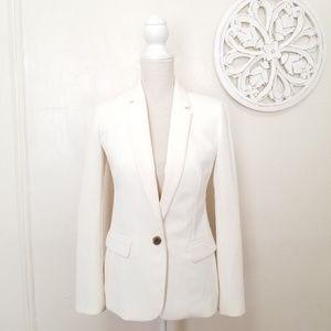 J.crew size 0 white blazer